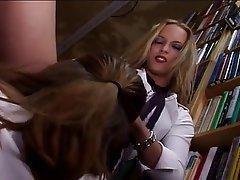 Lesbian, Masturbation, Stockings, Strapon
