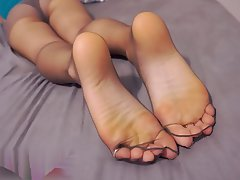 Foot Fetish, Pantyhose, POV, Stockings