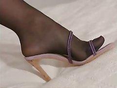 Blonde, Foot Fetish, Masturbation, Stockings