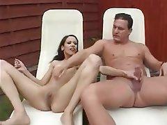 Anal, Brunette, Orgasm, Outdoor