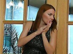 BDSM, Femdom, Redhead, Russian, Strapon