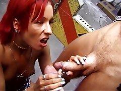 Blowjob, Threesome, Facial, Group Sex, Redhead