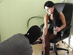 Femdom, Foot Fetish, Stockings