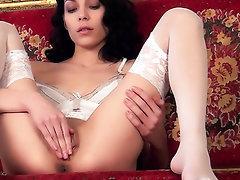 Babe, Masturbation, Panties, Stockings, Teen